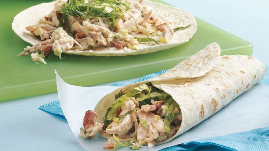 Ranch left over Turkey or chicken wrap: makes 4-6
