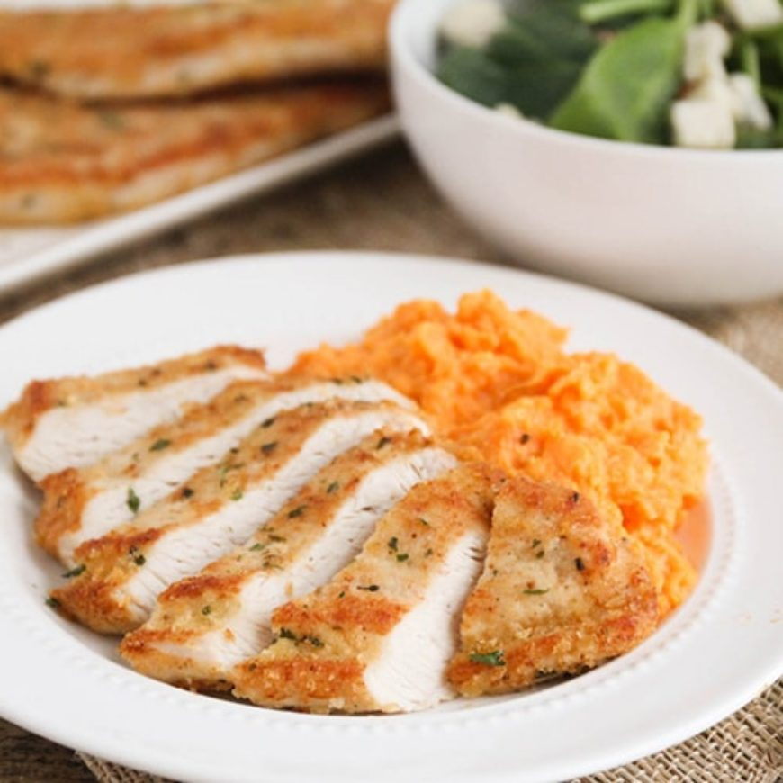 Garlic Parmesan Turkey Cutlets